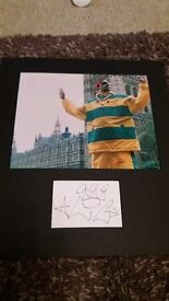 Ali G photo and signed card