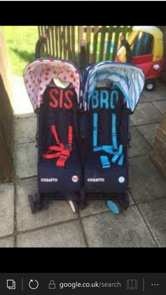cosatto Double bro and sis stroller
