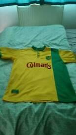 Norwich City FC football shirts