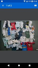 Large bundle of boys newborn clothes. Some brand new