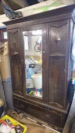 Old Antique Victorian Wardrobe