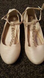 Next girls party/bridesmaid shoes UK 10