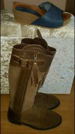 Spanish boots & leather sandals