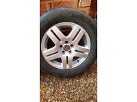 Genuine VW 15 Inch Alloy Wheels x 5 (tyres included)