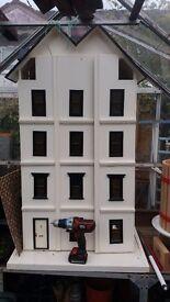 Large dolls house & furniture