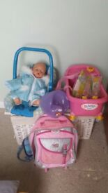Collection of baby bjorn toys