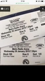 *2 boyzone tickets