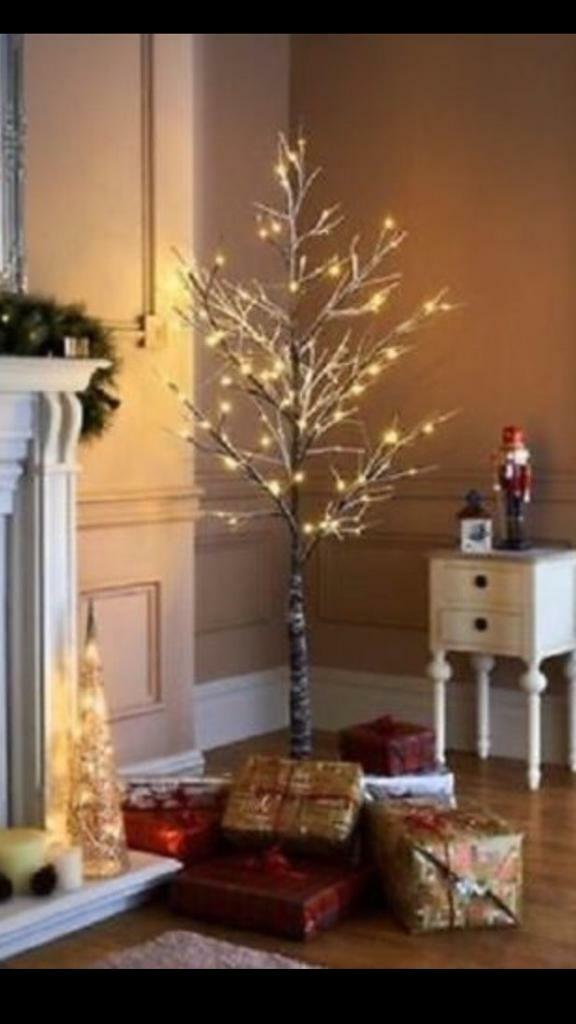 6ft multifunction led snowy twig tree