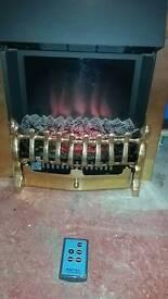Electric flame effect fan heater.