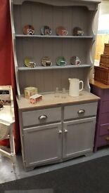 Dresser painted in Annie Sloan Paris Grey chalk paint with stripped top