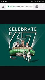 Celebrate 67 Celtic Rod Stewart Tickets x 2
