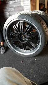 Lenso 22 inch alloy wheels taken off nissan navara d40