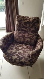Great condition sofa and matching swivel chair.