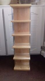 Beech coloured cd storage stand