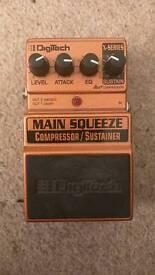 Digitech Main Squeeze Compressor / Sustainer Guitar Pedal