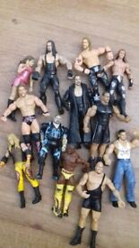 Wwe ring, 23 figures including HHH & The Undertaker &accessories