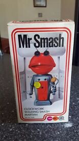 vintage, marx, mr smash martian / robot, complete & boxed, 1970's toy from the famous tv advert