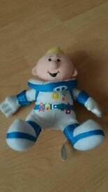 """Lunar jim soft cuddly 8"""" toy cbeebies"""