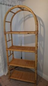 Tall Bamboo Shelving Unit with 4 shelves