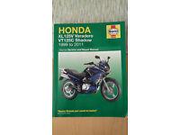 Haynes work shop manual for Honda XL 125V Varadero & VT125C Shadow 1999 to 2011