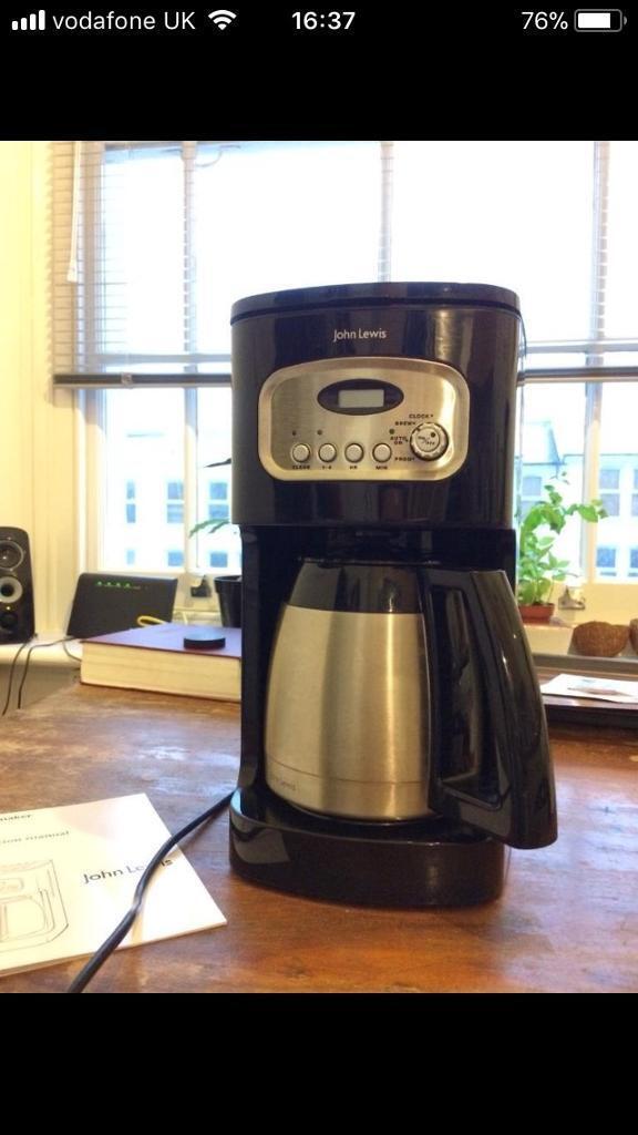John Lewis Filter Coffee Machine In Camden London Gumtree