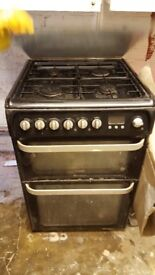 Hotpoint gas 4 burner with double oven and grill