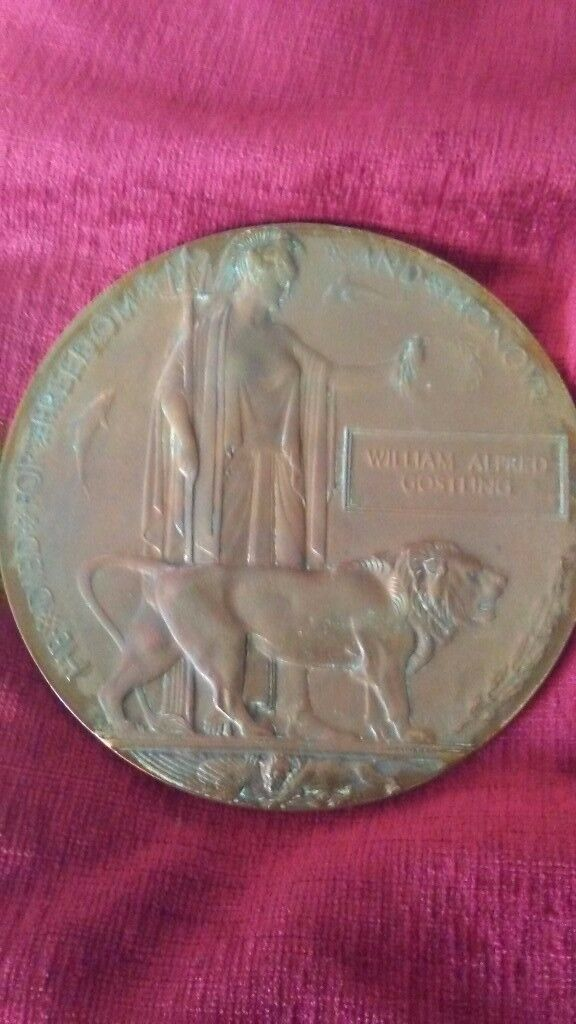 Soldiers death penny medal no research done