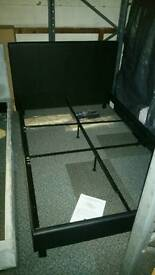 A brand new 4ft 3 quarter black leatherette bed frame.