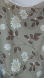 Harlequin Alena Brown Floral 100% Cotton Curtain Designer Fabric.