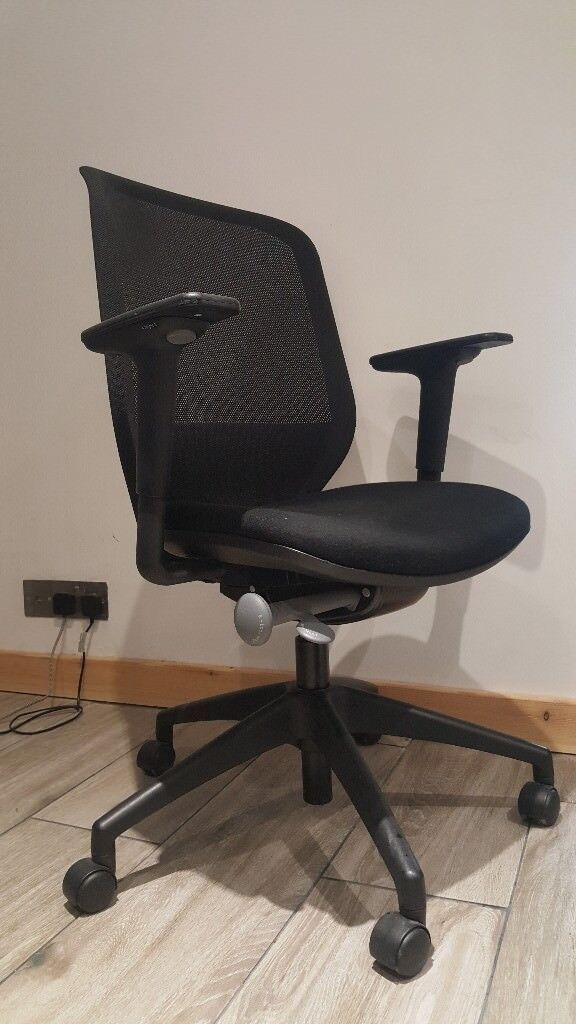 orangebox joy 12 black mesh swivel office chair high back ergonomic