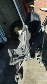 Silver cross folding stroller with footmuff