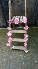 Wedding wooden step ladders