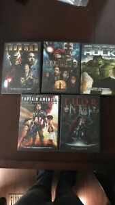 5 Marvel movies DVD set