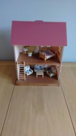 Sylvanian Families - Babblebrook Grange - with furniture