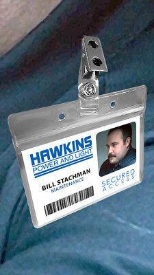 Stranger Things Hawkins Power and Light Halloween Costume ID Badge Card HP&L
