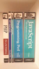 IT books x5 - O'Reilly Programming PHP JavaScript Perl etc