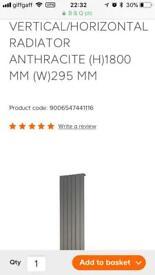 Brand new vertical anthracite grey designer radiator