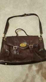 Ladies brown leather Crew Clothing bag