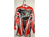 wulfsport race shirt motocross motox quad enduro red adult size small