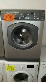 HOTPOINT 7KG 1400 SPIN WASHING MACHINE IN SILVER