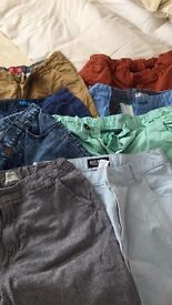 10 Pairs Boys shorts worn once age 16 from next