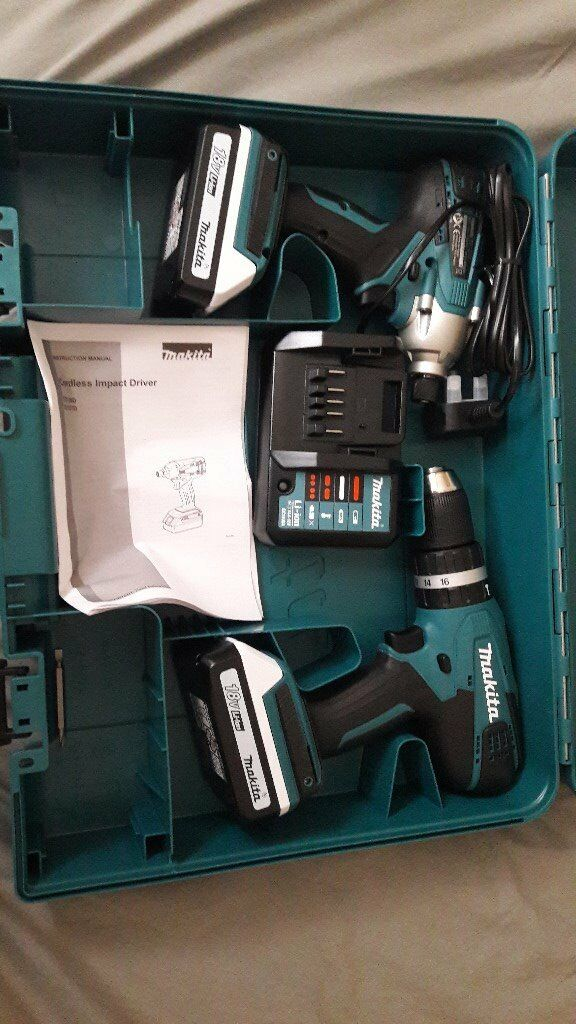 makita 18v g series combi drill twin pack in mill hill london gumtree. Black Bedroom Furniture Sets. Home Design Ideas