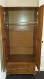 Wardrobe and king size bed