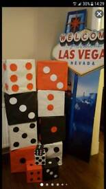Vegas and Casino party props