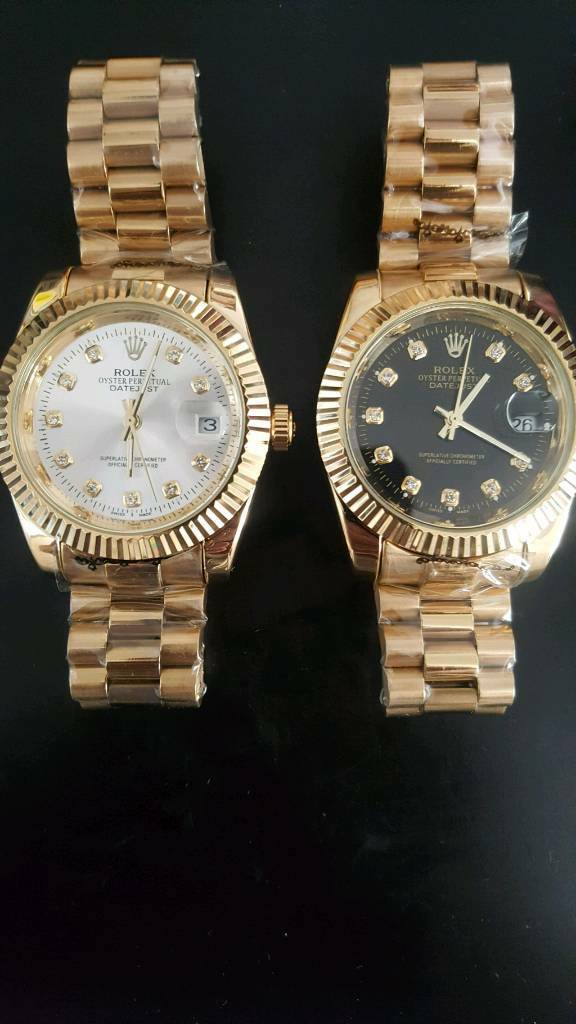 Mens watch gold and white or gold and blackin Liverpool, MerseysideGumtree - Cheap automatic watches .. 50 each or 2 for 80. I have the 2 in the pictures and are brand new. Can deliver local if needed