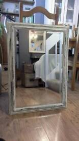 Vintage Shabby Chic Upcycled Wooden Mirror