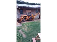 Mini digger / tractor case 648 wheeled machine backhoe with buckets, non runner, rare machine
