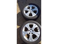 "Set of 4 17"" Renault Megane/Scenic/Grand Scenic Alloy Wheels and Tyres 205/55/17"