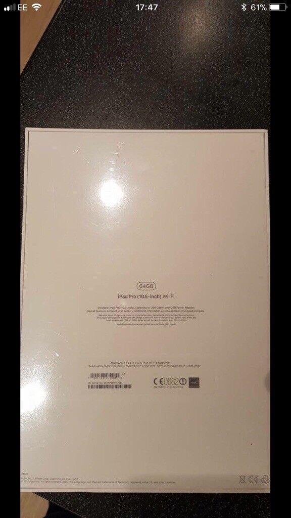 APPLE IPAD PRO 10.5 64GB WIFI 2017 BRAND NEW BOXED