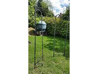 2-Heavy Duty Wrought iron single hook bird feeder poles